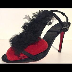 Christian Louboutin Shoes - Christian Louboutin Chiffon T Strap Sandals 36 6
